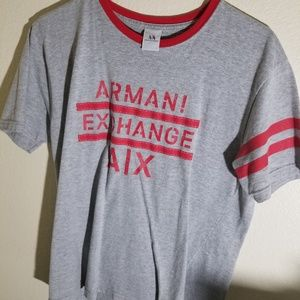 Armani exchange mens short sleeve shirt